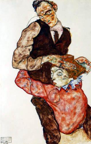 Egon Scheile, Liebespaar, źródło: Leopold Museum