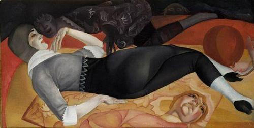 Boris Grigoriev, Dream Acrobat, 1910 , źródło: tumblr.com