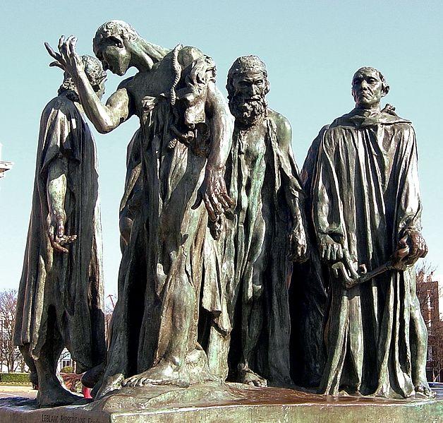 Auguste Rodin, Mieszczanie z Calais, źródło Getty Image