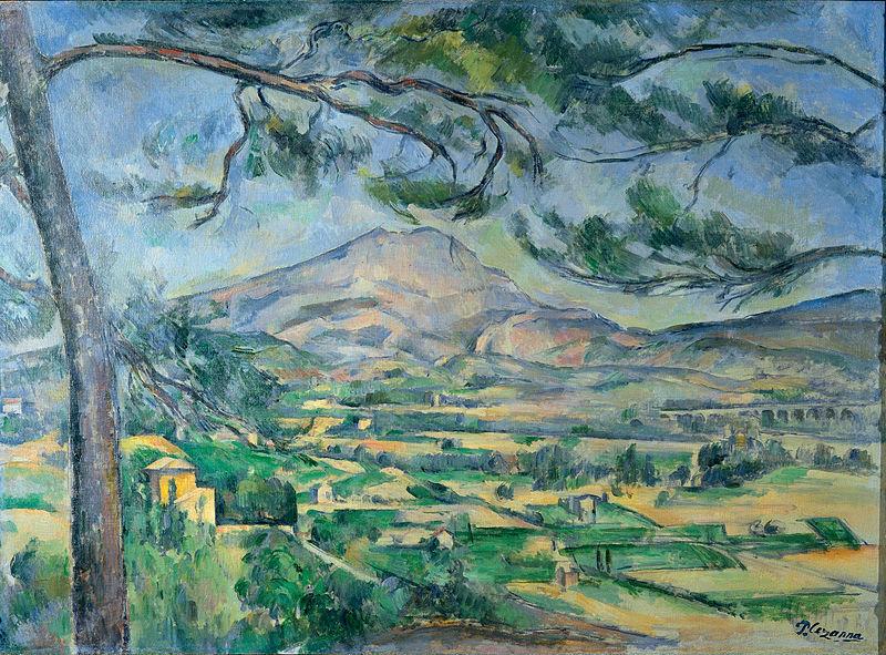 Paul Cézanne, Góra św. Wiktorii, żródło: Courtauld Gallery