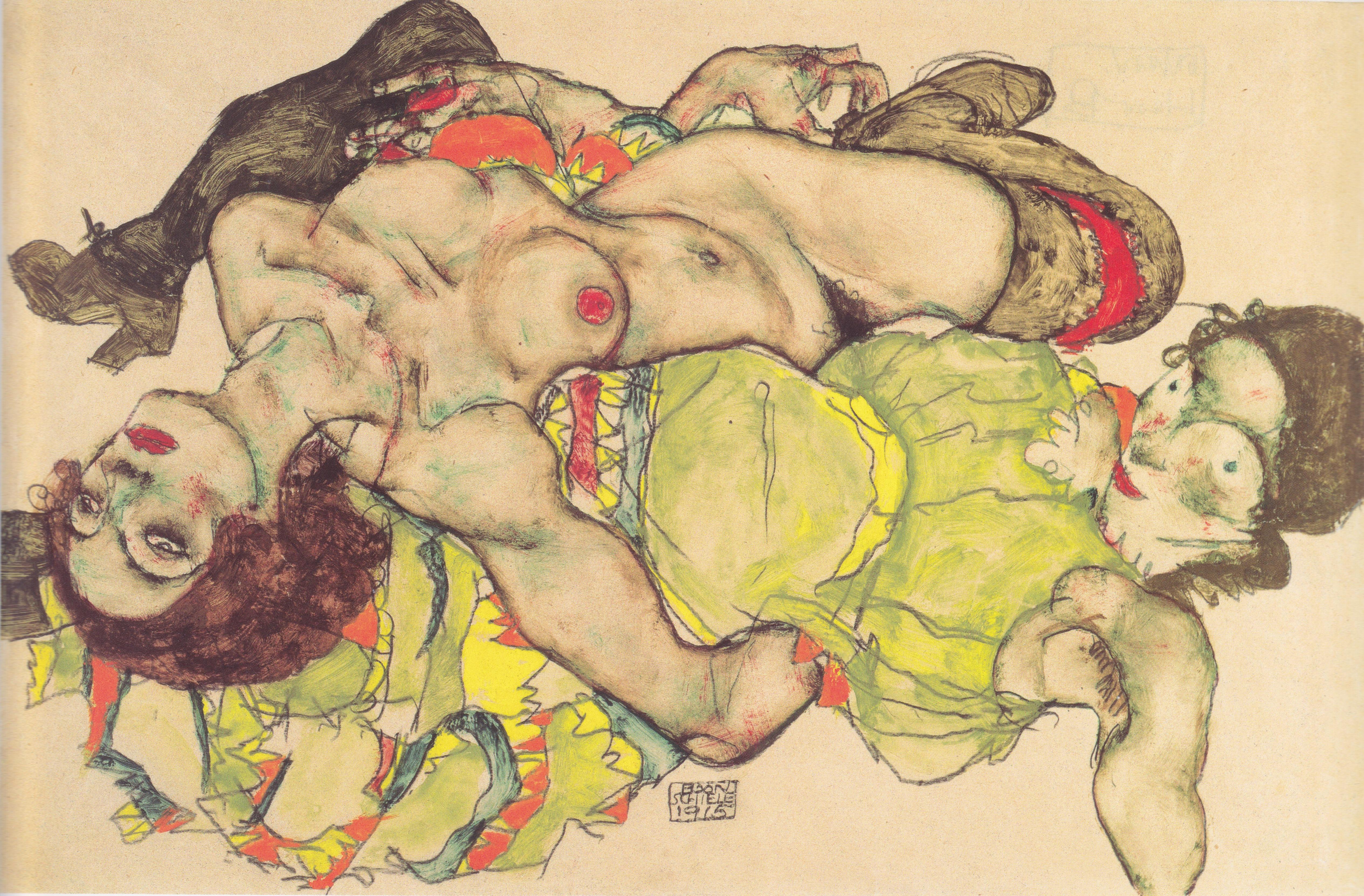 Egon Schiele, Weibliches Liebespaar, 1915, źródło Leopold Museum