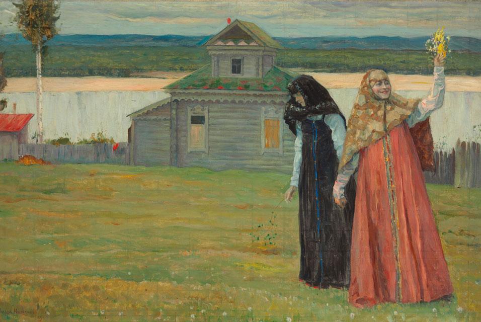 Mikhail Nesterov,Two Sisters, źródło: christies.com