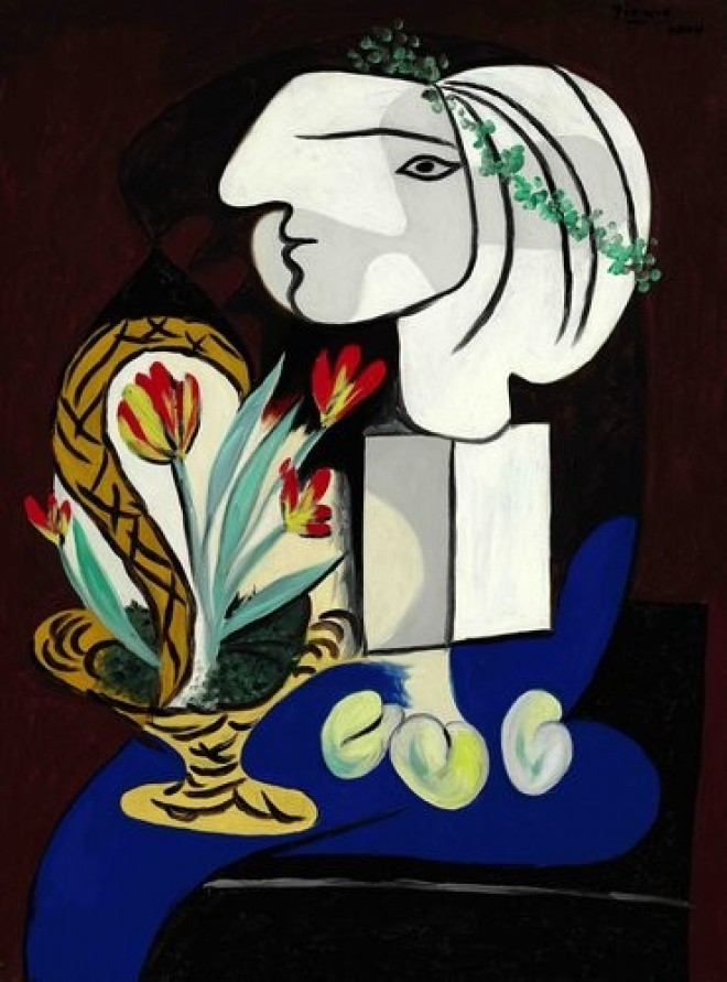 Pablo Picasso, Martwa natura z tulipanami, źródło: Sothebys.com