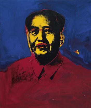 ANDY WARHOL Mao, 1973, źródło:phillipsdepury.com