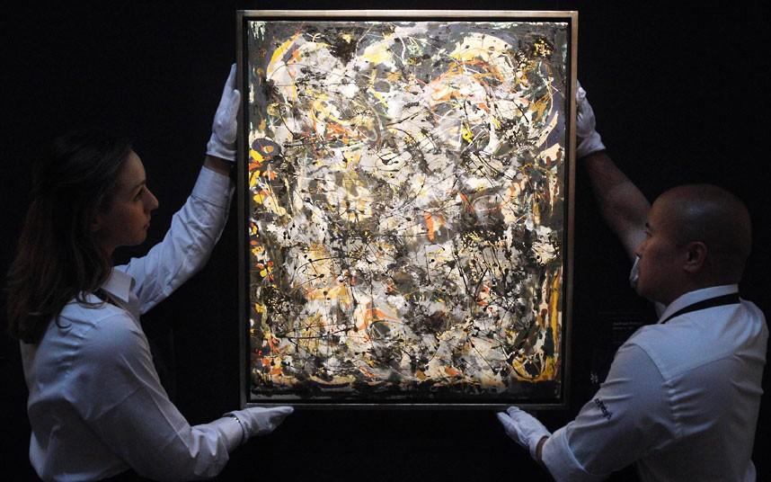 Jackson Pollock, Number 4, 1951, źródło: Sothebys.com