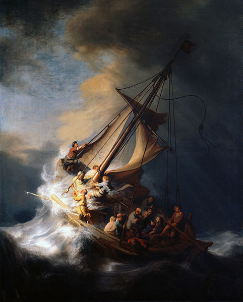 Rembrandt, Christ in the Storm on the Lake of Galilee, źródło: Isabella Stewart Gardner Museum