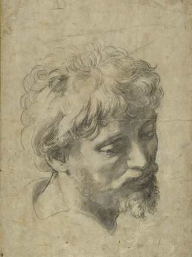 Raffaello Sanzio, Axiliary cartoon for the Head of a Young Apostle, Źródło; Sotheby's