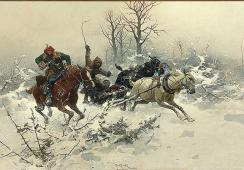 Józef Brandt, Ucieczka, ok. 1890, Dom Aukcyjny Agra-Art