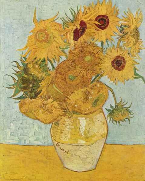 Vincent van Gogh, Słoneczniki, źródło: Vincent Van Gogh National Museum