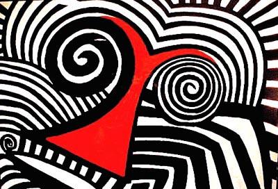 Alexander Calder, Red Nose, źrodło: herndonfineart.com