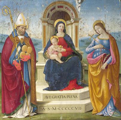 Sebastiano Mainardi, Madonna and Child with St. Nicholas of Bari and St. Justina, źródło: Indianapolis Museum of Art