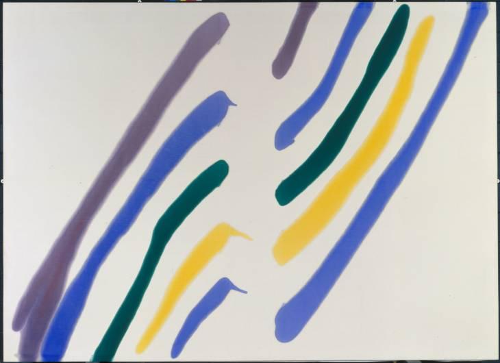 Phi 1960-1 by Morris Louis 1912-1962, źródło: Tate