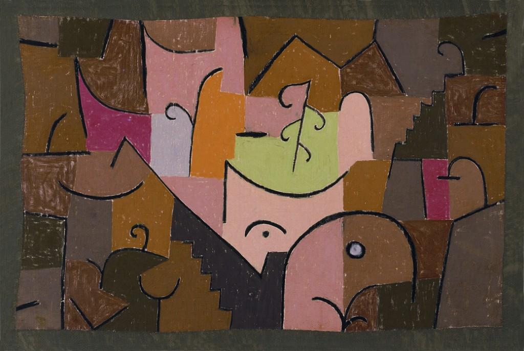Paul  Klee: Buehnen-Landschaft (1937) , mat. organizatora