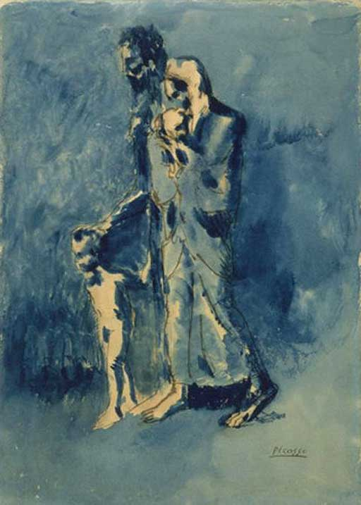 Pablo Picasso, Poverty, źródło: Whitworth Gallery