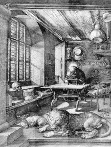 """Albrecht Dürer, """"Św. Hieronim w pracowni"""", Źródło: Christie's"""