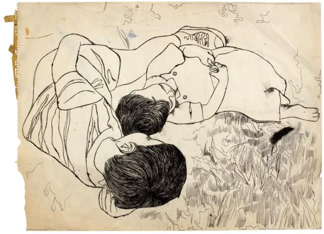 Jeden z rysunków Warhola, fot. danielblau.com
