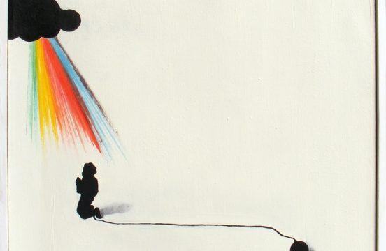 "Tomasz Preficz , ""Hodowla"", 46 x 46 cm; olej na płótnie, Źródło: studentartworks.com"