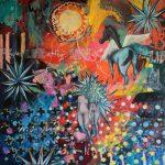 "Joanna Styrylska, ""Lunatycy"", 80×80 cm, olej, artpower.pl"