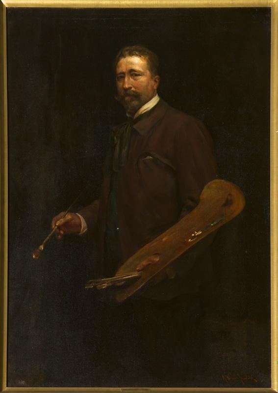 Autoportret Alfreda Wierusza- Kowalskiego, ok., 1900, MNW
