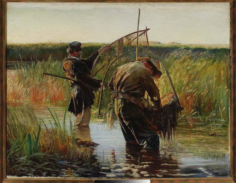 Leon Wyczółkowski, Rybacy lub połów raków, 1891 rok, MNW