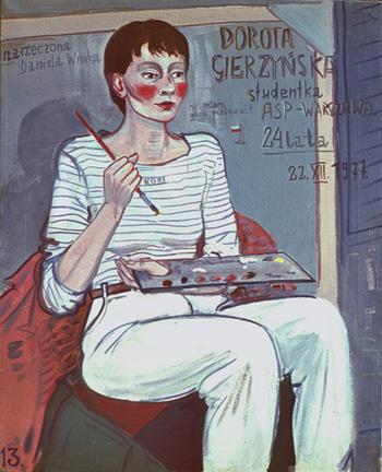Edward Dwurnik, Portret Doroty Gierzyńskiej, 1977 rok, cena sprzedaży w 2009 roku w Rempexie wyniosła 8 600 złotych, źródło: dwurnik.pl
