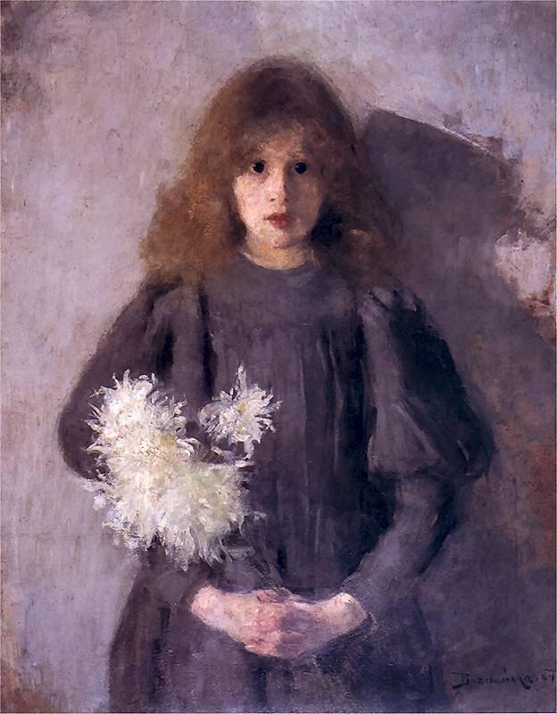 Olga Boznańska, Dziewczynka z chryzantemami, fot. Muzeum Narodowe w Krakowie