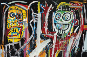 "Jean-Michel Basquiat'a, Dustheads"" 1982, Źródło: christies.com"