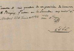 Oryginalny rachunek Francisco Goi idzie pod młotek