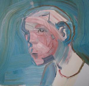 LETO Norman, An egoist, olej na płótnie, 60 x 60 cm, 2008, Źródło: Art Agenda Nova