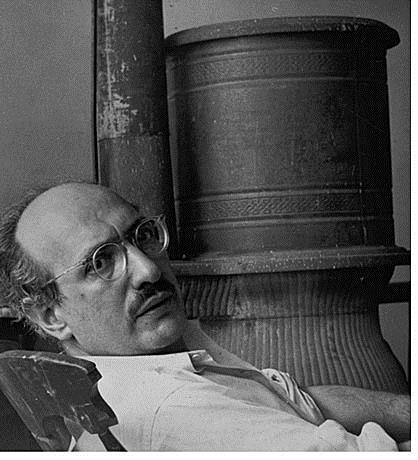 Mark Rothko w swoimi studiu na West 53rd Street, około 1953 roku , fot.  Henry Elkan,  źródło: National Gallery of Art w Waszyngtonie
