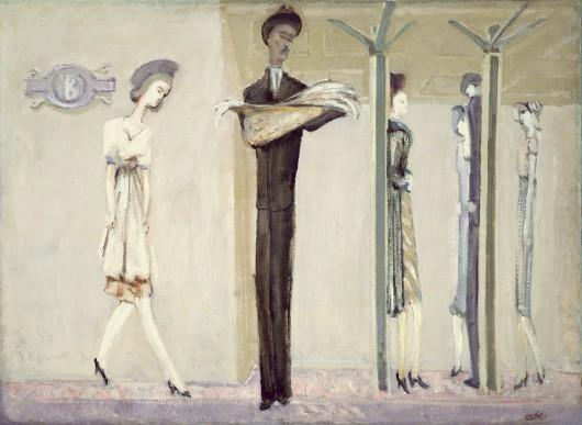 Mark Rothko, Fantazja w metrze, 1940 rok, źródło: National Gallery of Art, Waszyngton
