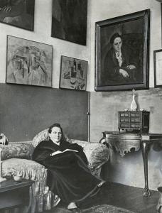 Gertruda Stein w swoim paryskim salonie, źródło: Library of Congress