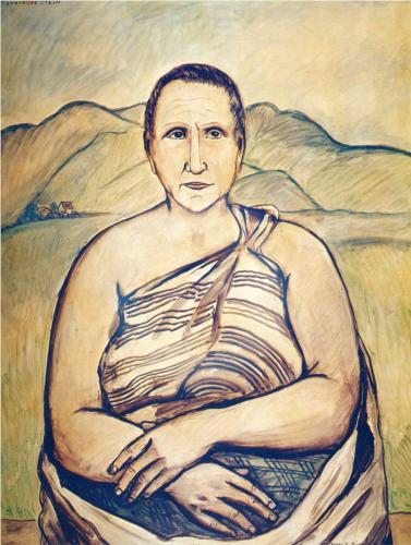 Francis Picabia, Portret Gertrudy Stein, kolekcja prywatna, źródło: wikipaintings.org