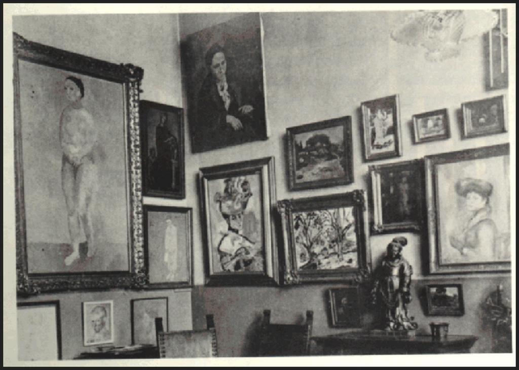 Kolekcja Gertrudy i Leo Stein w studiu przy 27 rue de Fleurus w Paryżu