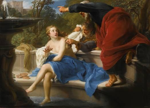 Pompeo Batoni, Zuzanna i starcy, 1751 rok,  sprzedany w 2013 roku za ponad 11 mln dolarów,  źródło: sothebys.com