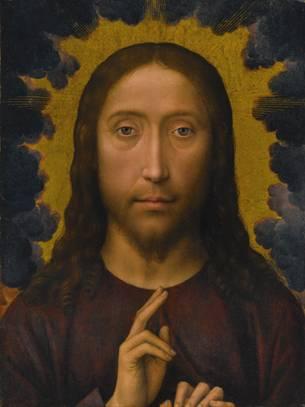 Hans Memling, Chrystus Błogosławiący, II poł. XV wieku,  sprzedany w 2013 roku za 4. 114. 500 milionów dolarów,  źródło: sothebys.com