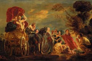 Jacob Jordaens, Spotkanie Odyseusza i Nauzyki,  obraz sprzedany za ponad 2 mln funtów,  źródło: christies.com