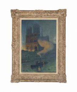 Thomasa Buford Meteyard - Notre Dame de nuit, źródło: christies.com