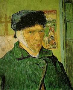 Vincent Van Gogh, Autoportret z zabandażowanym uchem 1889