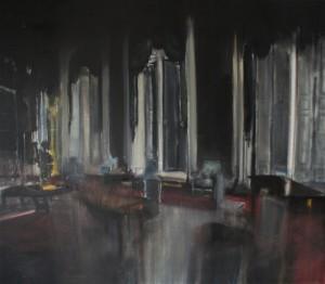 Łukasz Stokłosa - Grand Trianon, 2013, olej na płótnie, 70x80, źródło: GALERIA ZDERZAK