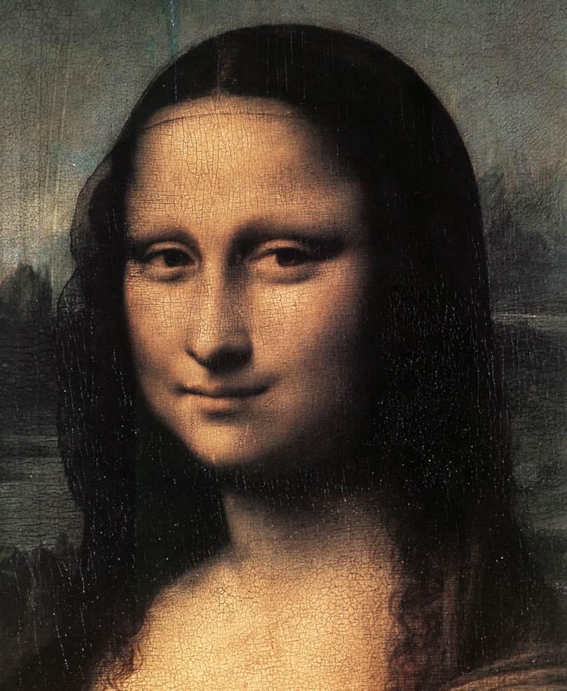 Leonardo da Vinci, Mona Lisa (detal), około 1503-1505 roku, Luwr, Paryż