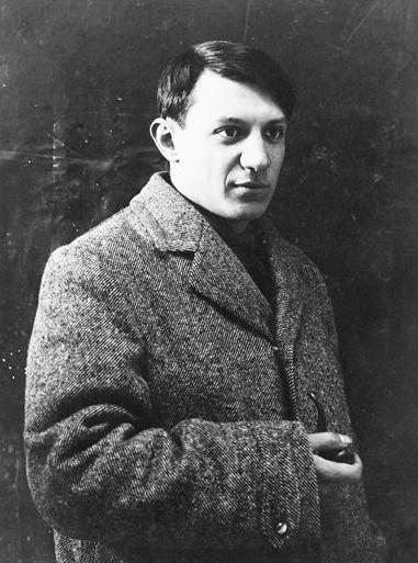 Pablo Picasso, fotografia z lat 1908-1909, źródło: wikipedia.pl
