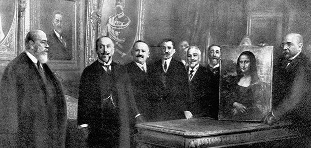 Przeniesienie obrazu do Francji z włoskiego Ministerstwa (Ministry of Public Instruction),  źródło: www.smithsonianmag.com