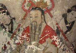 Zabytkowe buddyjskie freski zniszczone