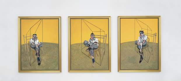 Francis Bacon, Three Studies of Lucian Freud, 1969, triptych, Christie's