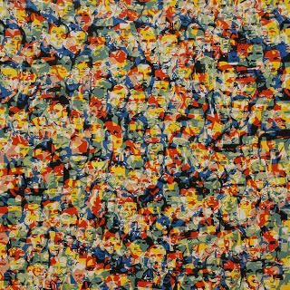 Bartosz Czarnecki, Możliwości struktury,  olej na płótnie, 150 x 150 cm, 2013 fot. bartoszczarnecki.blogspot.com