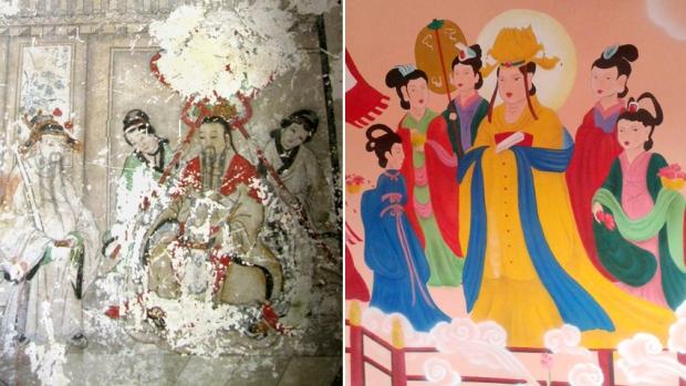 Freski po nieudanej renowacji. Źródło: AFP