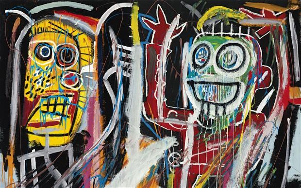 "Jean-Michel Basquiat, ""Dustheads"", 1982. Źródło: Christie's"