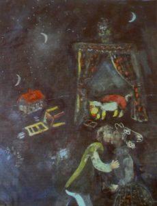 Części znalezionych dzieł przypisuje się autorstwo malarza Marca Chagalla. Fot. Christof Stache