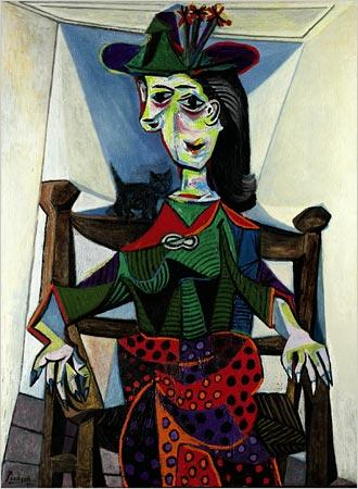 """Pablo Picasso, """"Dora Maar au chat"""", 1944. Źródło: Sotheby's"""
